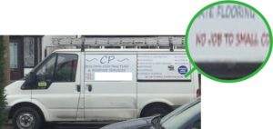 Van signwriting mistake typo error